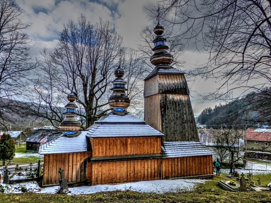 Drevený kostolík Hunkovce, okres Svidník, Slovensko