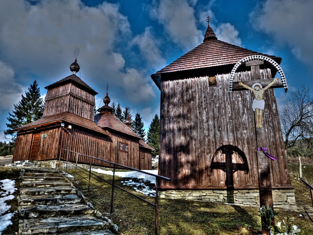 Drevený kostolík Korejovce, okres Svidník, Slovensko