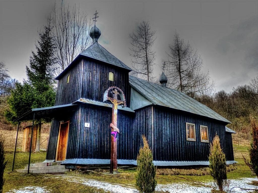 Drevený kostolík Krajné Čierno, okres Svidník, Slovensko