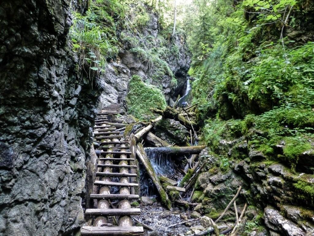 Tiesňava Veľký Sokol, Slovenský Raj Národný Park, Slovensko - 437