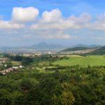 Hrad Šebeš, výhľad z hradného kopca, Kam na výlet Východné Slovensko