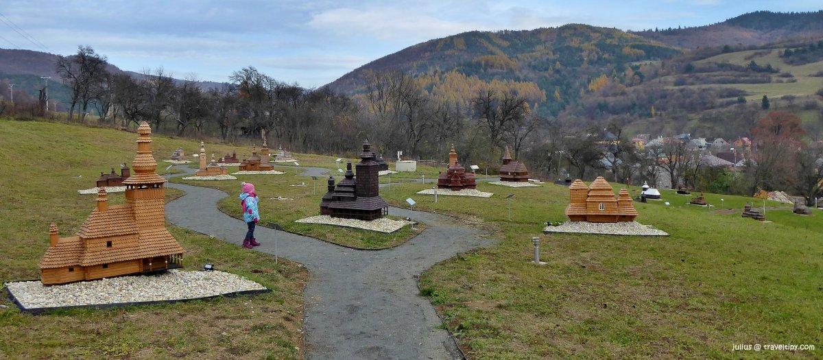 Mini skanzen drevených kostolíkov Ľutina, Východné Slovensko