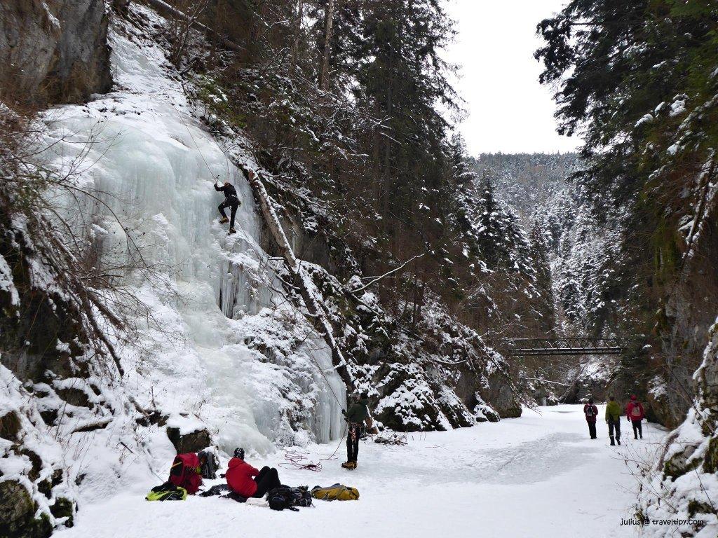 Prielom Hornádu v zime, Slovenský Raj, Východné Slovensko