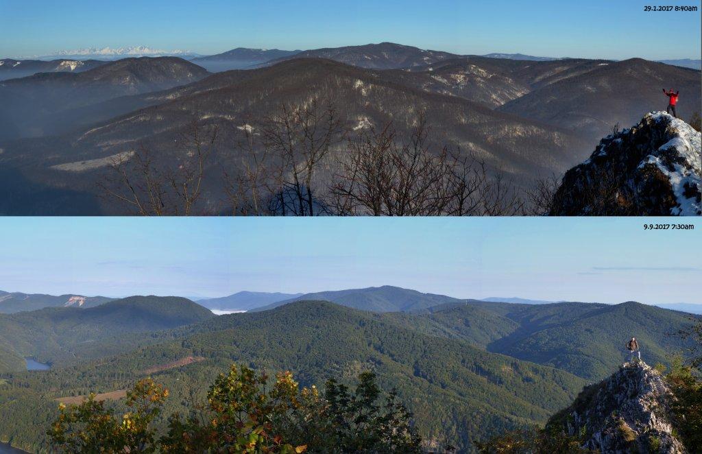 Sivec – panoráma, január a september 2017, Východné Slovensko