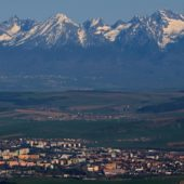 Spišská Nová Ves a Tatry - výhľad z vrchu Bukovec (1127m), Východné Slovensko