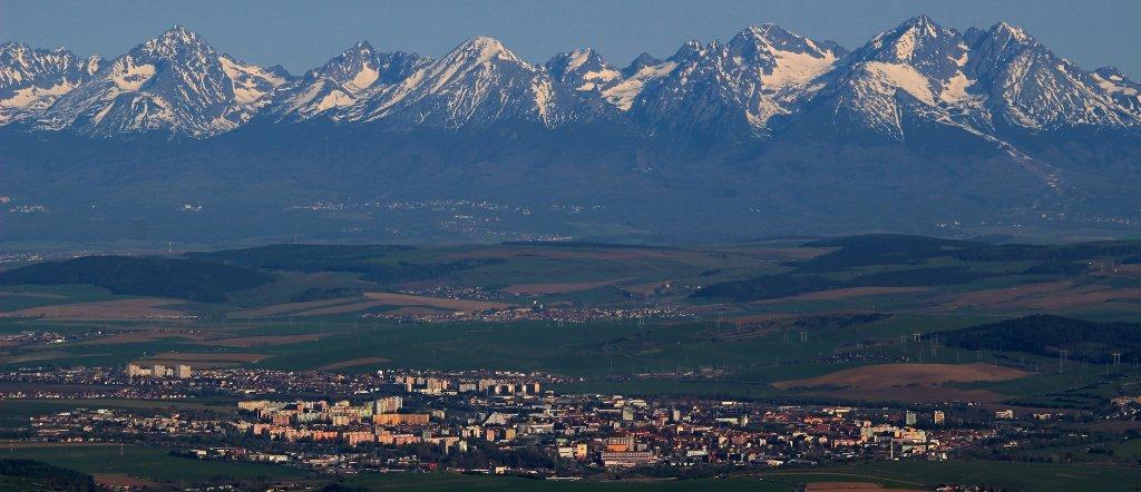 Spišská Nová Ves a Tatry – výhľad z vrchu Bukovec (1127m), Východné Slovensko