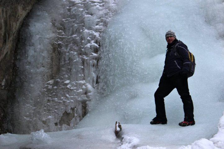 Suchá Belá v zime, Slovenský raj, Východné Slovensko - 2