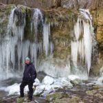 Hájske vodopády v zime, Východné Slovensko
