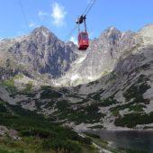 Vysutá lanovka Skalnaté pleso–Lomnický štít Vysoké Tatry Východné Slovensko