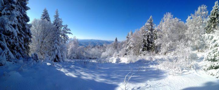 Zimná scenéria na Roháčke, Čierna hora, Kam na výlet východné Slovensko
