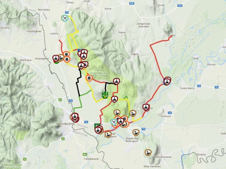 Cyklotrasy Tokaj, Košice region, Slovensko