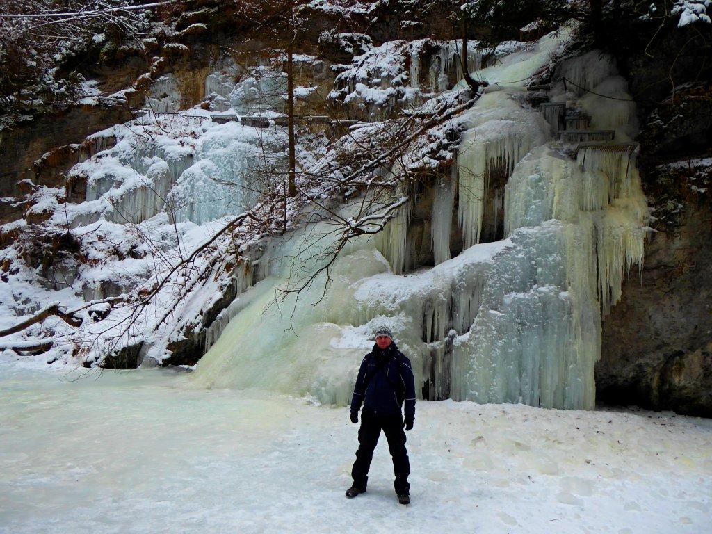 Prielom Hornádu v zime, Slovenský raj, Košický kraj, Slovensko