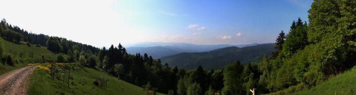 Magnezitárska 60tka 2018 - pohľad na južnú stranu z Krompašského vrchu