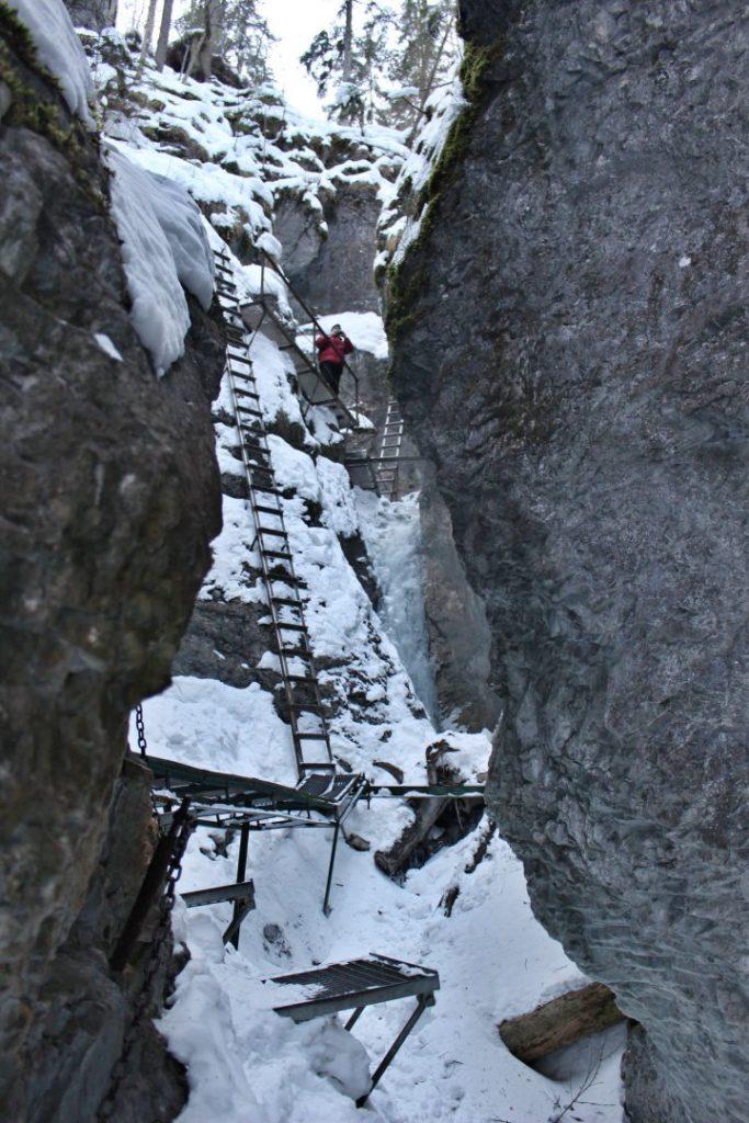 Rebríky v rokline Suchá Belá, Národný park Slovenský raj - 2