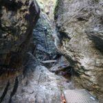 Sústava rebríkov a reťazí nad Misovými vodopádmi, Suchá Belá, Slovenský raj