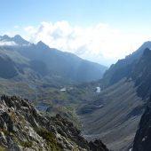 Veľká studená dolina z vrchu Východná Vysoká, Vysoké Tatry, Slovensko
