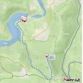Ružín - Sivec - Ružín - turistická mapa